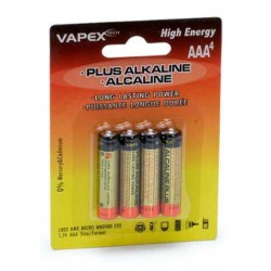 Plus Alkaline Batteri 1,5V AAA/LR03 4-pack